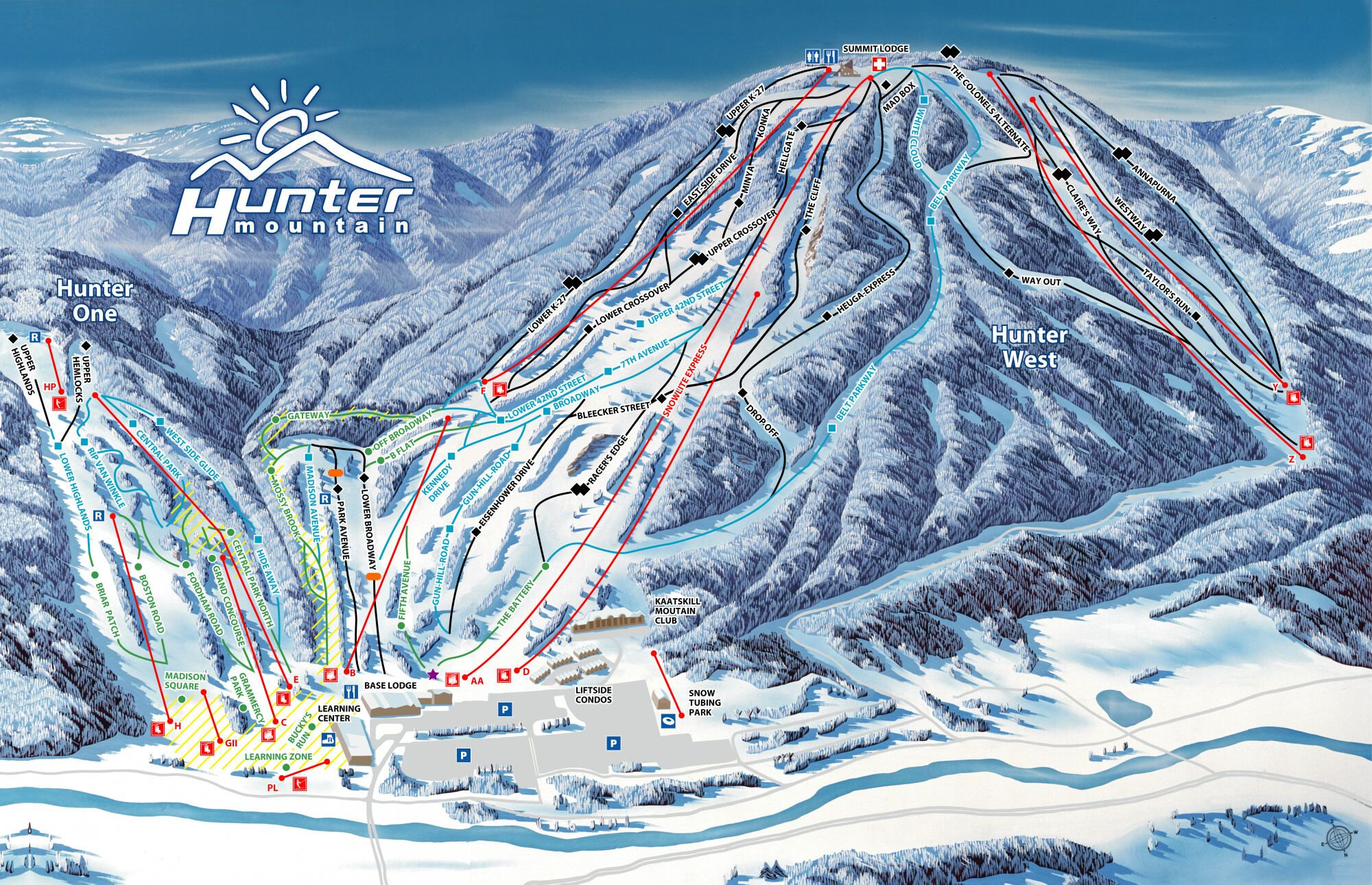 Skimap Hunter Mountain