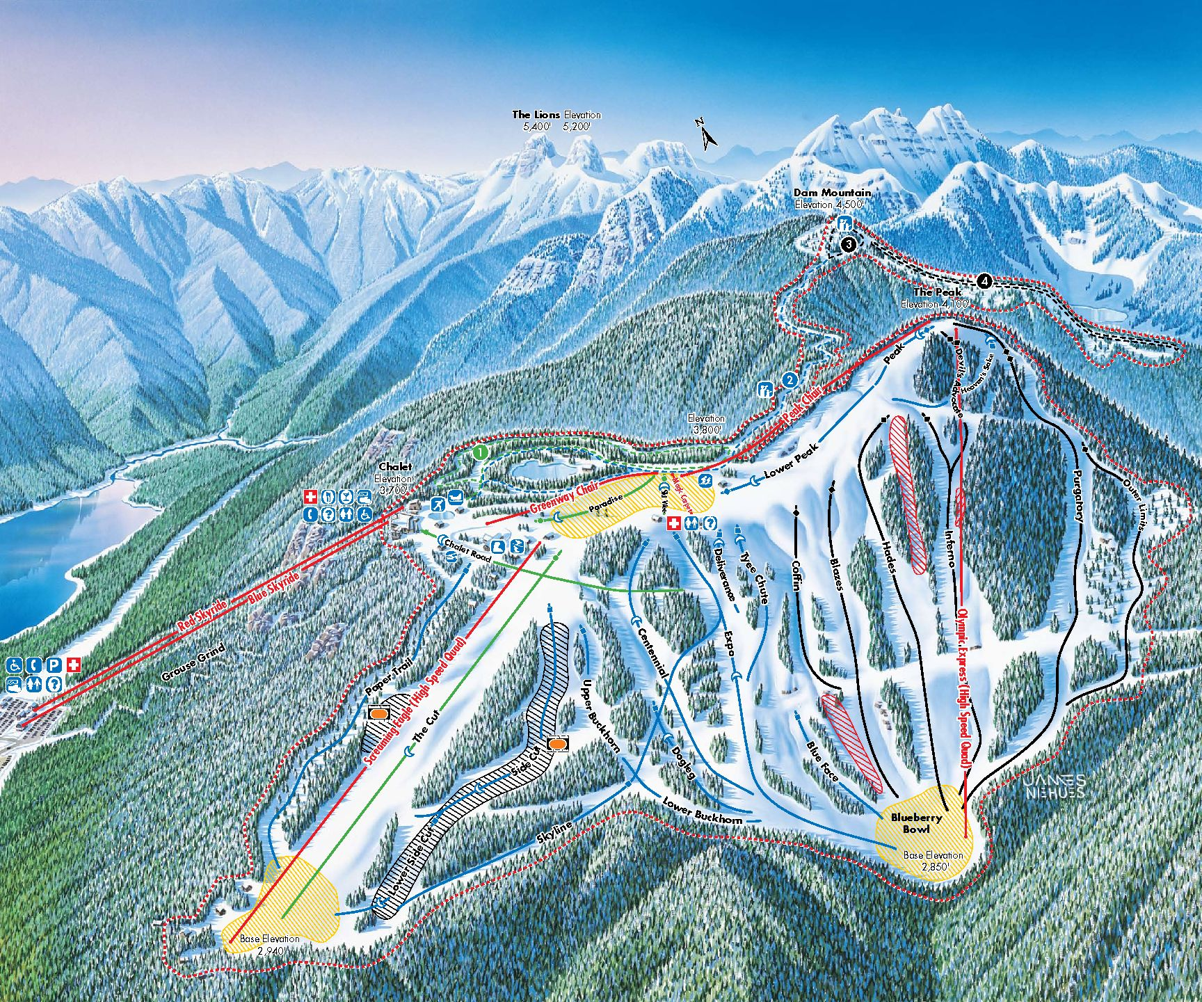 Skimap Grouse Mountain