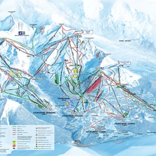 Skimap Courchevel