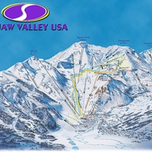 Skimap Squaw Valley