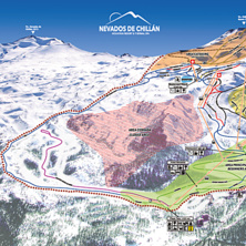 Skimap Nevados de Chillan