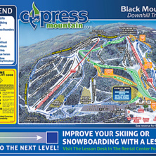 Skimap Cypress mountain