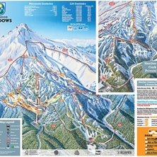 Skimap Mt Hood Meadows