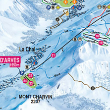 Trail map St Jean d'Arves