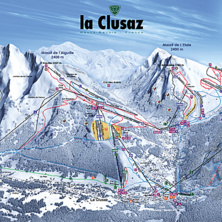 Trail map La Clusaz