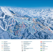 Skimap Gazprom Mountain Resort