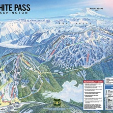 Trail map White Pass