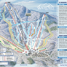 Trail map Wachusett Mountain Ski Area