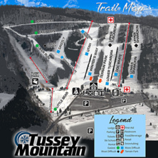 Trail map Tussey Mountain