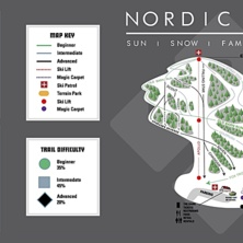 Trail map Nordic Valley Resort