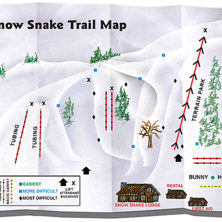 Trail map Snow Snake Mountain Ski Area