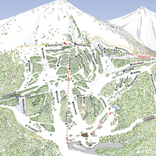 Trail map Teton Pass Ski Resort