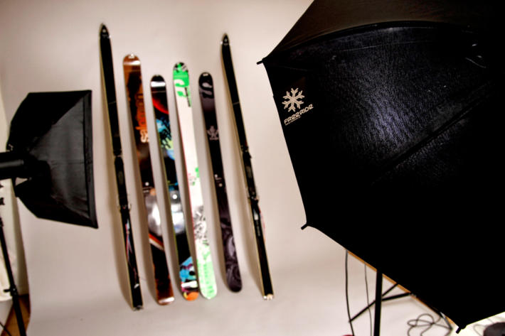 Different types of skis