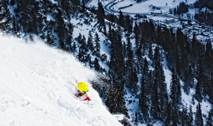 Deep powder snow in St Anton