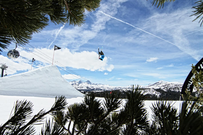 Park skier Alexis Godbout in Mammoth Mountains